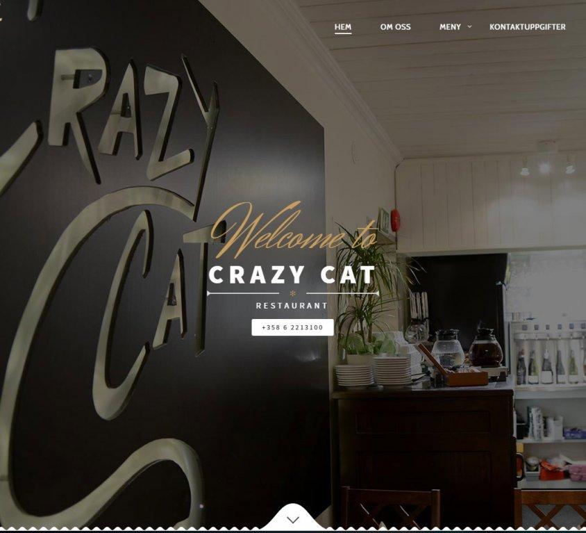 Crazy Cat Restaurant Website