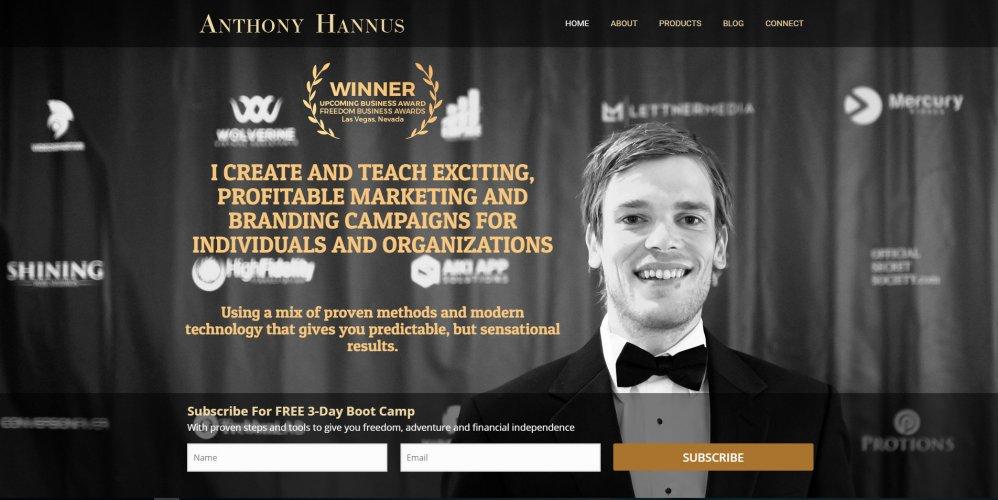 Anthony Hannus Personal Website