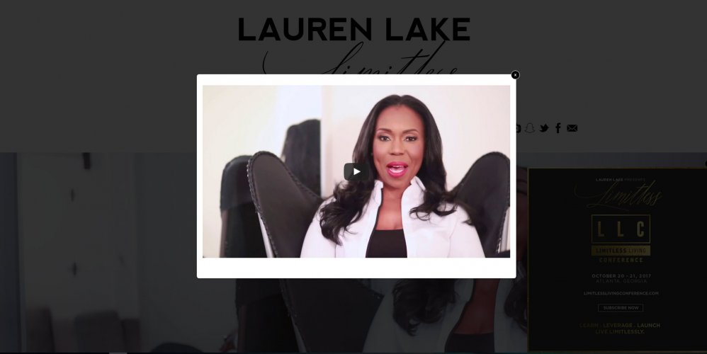 Lauren Lake Celebrity Website
